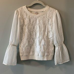 Ella Moss NWT Girls Long Sleeve Lace Top Size 10